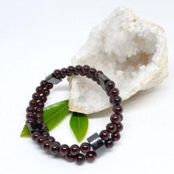 Bracelet de Rhodonite, Citrine et Fluorine