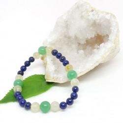 Bracelet - Aventurine verte, Lapis Lazuli et Quartz rutile