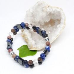 Bracelet double - Sodalite, Rhodonite, Hématite et Cristal de roche