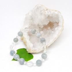 Bracelet - Aigue marine et Cristal de roche