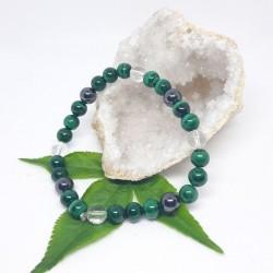Bracelet - Malachite, Hématite aimantée, Cristal de roche