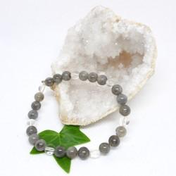 Bracelet - Labradorite et Cristal de roche
