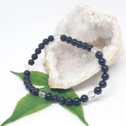 Chevillère de Tourmaline noire, Cristal de roche