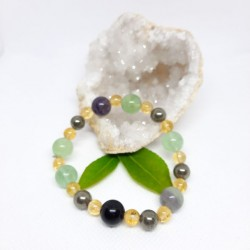Bracelet de Fluorine, Citrine, Pyrite