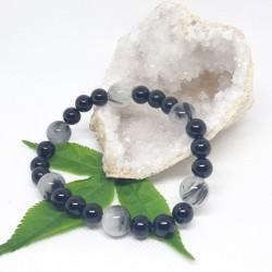 Bracelet de Quartz tourmaline noire, Tourmaline noire