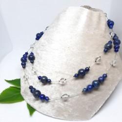 Collier double de Lapis Lazuli, Cristal de roche